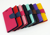 For Samsung Leather For Christmas Mercury Case for Samsung Galaxy S3 S4 S5 Luxury PU Leather Mega Cover Case With Wallet Pocket For i9300 i9500 i9600