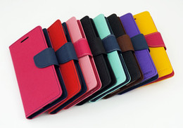 Wholesale Mercury Case for Samsung Galaxy S3 S4 S5 Luxury PU Leather Mega Cover Case With Wallet Pocket For i9300 i9500 i9600
