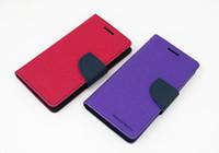 Nouveau Chic Mercury Series bouton de couleur pour Samsung Galaxy S3 S4 S5 PU cuir Wallet Stand Fonction Cover Case pour Samsung