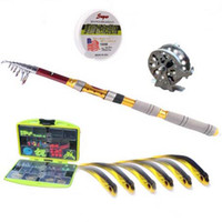 Wholesale Ultralight Carbon Fly Fishing Rod Suit Section Meters FT Fly Fishing Pole Suit All High Quality Lures Reel Line And Tackles