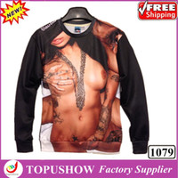 Wholesale 2014 Fashion New women men Naked Girl Sexy D funny beaty Long Sleeve Hoodies British Style Apparel For lovers