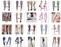 Wholesale 30 kinds of styles mixed batch printing seamless leggings new European and American women leggings pants