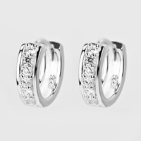 Wholesale GNE0477 Designer Jewelry New Design Fashion sterling silver micro pave CZ crystal Hoop Earrings Jewelry mm