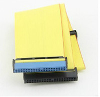 IDE Cable Desktop yellow Free shipping IDE Data Cable 80 pin IDE hard drive Line ATA133 Optical drive Cable H0983