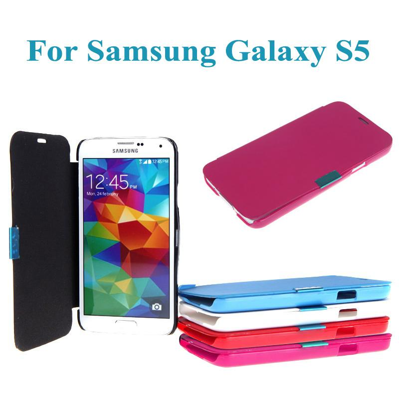 Buy Ultra-thin Flip Case Magnetic PU Leather Slim Cover iPhone 6 iPhone6 Casing Samsung Galaxy S5 i9600 Phone PA1602 PA1785