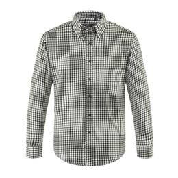 Wholesale Stylish Men Fiber Shirts Outdoor Soft Casual Long Sleeve Lapel Shirts With Square Plaid Style