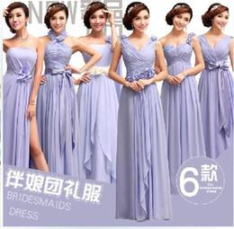 Wholesale Bridesmaid Dresses Purple weding dress prom dress bridesmaid dresses fancy party dresses