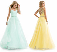 Cheap Reference Images prom gowns Best Spaghetti Straps Tulle Prom dresses