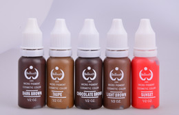 Wholesale BioTouch Permanent cosmetic Makeup Ink Pigment No Fada Easy To Colored Can By Used Manual Tattoo Pen And Machine
