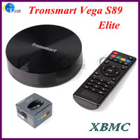 Wholesale Android OS XBMC Android TV BOX Tronsmart Vega Elite S89 Quad Core Amlogic S802 GHz G G BT G wifi smart tv stick mk808 killer