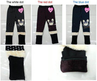 Leggings & Tights Girl Winter New European and American fashion children's clothes printing ugg boots pants in winter Cute girl with velvet leggings in girls free ship