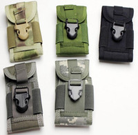 Wholesale New D Nylon Molle Phone Pouch Bag For Outdoor Sports Bike Airsoft Paintball Camping Hiking Mountaineering Climbing