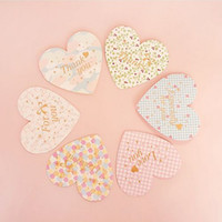Wholesale Love Heart Greeting Cards With Envelopes For Mother Day Cute Design Message Card Greeting Cards set