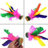 Wholesale Colorful Kick Shuttlecock Jianzi Chinese Exercises Exterior Sport Game Suitable For Every Body