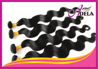 Wholesale Best Quality A nch Cuticle Brazilian Virgin Hair Weave Natural Color Body Wave Human Hair Weft Remy Hair Extension