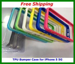 Soft TPU Gel Frame Bumper Case With Metal Buttons Cover Skin for iPhone 5 5G 5S 5th with Retail Box