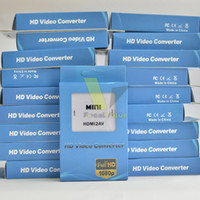 Wholesale Mini HD Video Converter Box HDMI to AV CVBS L R Video Adapter Adapters P HDMI2AV Support NTSC And PAL Output