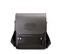 Fashion Mens Brown Leather Crossbody Messenger Bag (S L Size...