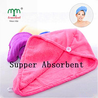 Wholesale PC Microfiber Plush Quick Drying Turban Towel Absorbent Soft Thick Hair Wrap Hat
