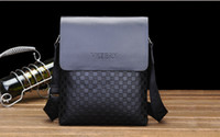 Fashion Mens Leather Crossbody Shoulder Messenger Bag