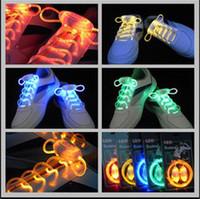 Cheap color LED Flashing Shoe Lace Best blue,yellow,7colors,green pink,blue pink  Luminous Shoe Laces