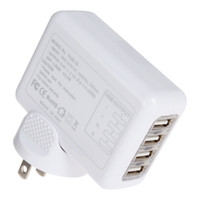 Universal white CE / FCC 2.1A 4 Port USB Charger Universal USB Wall Charger AC Mobile Phone Charger For Home Travel With Plug Optional CHA_024