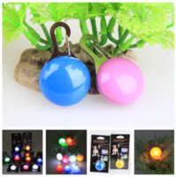 Wholesale Hot selling Circular LED Pendant Safety Night Light Up Pet Dog Keychain Tags