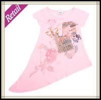 Cheap Girl's Fashion Butterfly Bias Cut Floral Baby Girls Dresses Summer 2014 Children Clothing Baby Dress For Girls Nova Brand Retail H2396