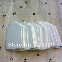 Wholesale cm white blank cardboard gift hang tag jewelry price tags
