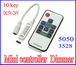 Wholesale LED Mini Controller Dimmer keys Wireless RF Remote RGB LED strip Controller V for LED Strip