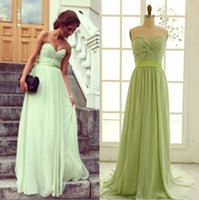 Sheer Prom Sexy Sweetheart Chiffon Green 8th Party Dresses F...