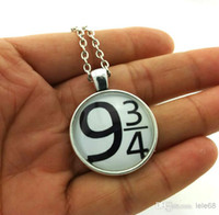 Wholesale Gass photo pendant necklace Harry Potter Necklace Platform Glass Pendant Hogwarts Express Pendant Book jewelry