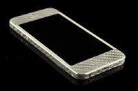 Wholesale High Quality Phone Pad Pasting Carbon Fiber Whole Body Frame Back Pasting Flashed Logo For iPhone5 S iPhone5S