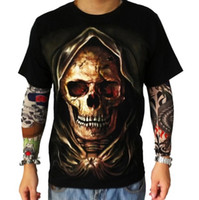 Wholesale METAL HEAVEN New Arrivals Men Rock Skull Head Printed d T shirt Cool Tops Fashion Novelty Tee