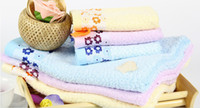 Flower Bamboo Fibre Washcloth children Bath Towel 70x140cm
