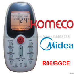 Wholesale Midea Air Conditioner Midea Remote Control KOMECO Remote Control KOMECO Air Conditioner R06 BGCE Split Portable Air Conditioner