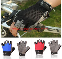 Wholesale Mountain Racing Riding Dirt Bike Bicycle Shockproof Fingerless Motorcycle Gloves