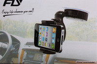 Wholesale Universal Windshield Degree Rotating Car Mount Bracket Holder Stand for iPhone galaxy Cellphone GPS MP4 PDA tablet mobile phone