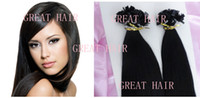 Brazilian Hair Natural Color Straight BEST flat tip human VIRGIN remy hair extension 1G strand 100strands pack 3packs lot FULL HEAD free shipping