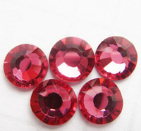 Wholesale Supper Shiny DMC ROSE Color Hotfix Rhinestones Flatback Crystals SS6 SS10 SS16 SS20