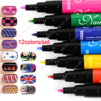 nail art pen - 12 set Nail Art Pen Painting Design Tool Drawing Gel Made Easy