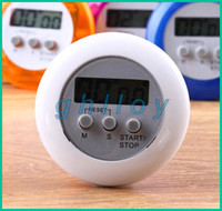 Wholesale Digital LCD Timer stop Watch Clock Alarm Kitchen Cooking Countdown different color