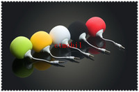 2 Universal Computer DHL Free 3.5mm Portable Music Sponge Balloon Mini Ball Speaker Loudspeaker For iphone 5 4 iPod MP3 PC computer with usb charging cable