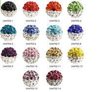 Wholesale 10MM DIY Clay Crystal Shamballa Beads Pave Rhinestone Disco Balls Beads Fit For Necklace Bracelet color u choose