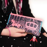 Wallets Men PP Love wooden wagon 2013 new Korean version of the original puppet rivet wallet card wallet lady long section