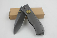 pocket knife aviation sales - 2014 Hot sale camping survival knife quot CR13 HRC Blade Aviation aluminum handle folding knife survival pocket knife with color box L
