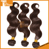 Indian Hair Body Wave 16 18 20 22 inch Queen Lovely Hair Indian Virgin Remy Hair Weaving Color 2# Body Wave 1pcs Human Hair Extensions Free shipping Can Dye And Bleach