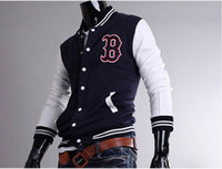 Wholesale 2014 NEW HOT Men s Coat Outerwear Jacket Men s Slim Baseball uniform Stand up collar Jacket Coat Outerwear
