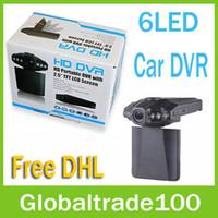 Wholesale HD Car DVR Radio H198 Camera Blackbox IR LED Night Video Recorder inch TFT Colorful Screen Rotating Free DHL Shipping