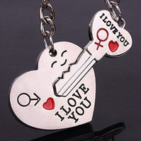 wholesale novelty items - Couple Arrow Heart Love You Cupid Pendant Key Chain Ring Keychain Lovers Novelty Items Gift Promotional quot I Love You quot Key chains Best Gifts